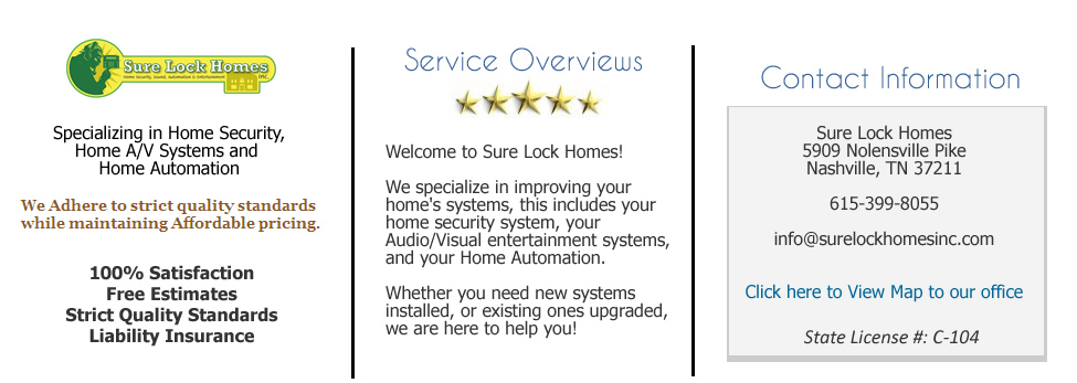 Home audio video setup Nashville